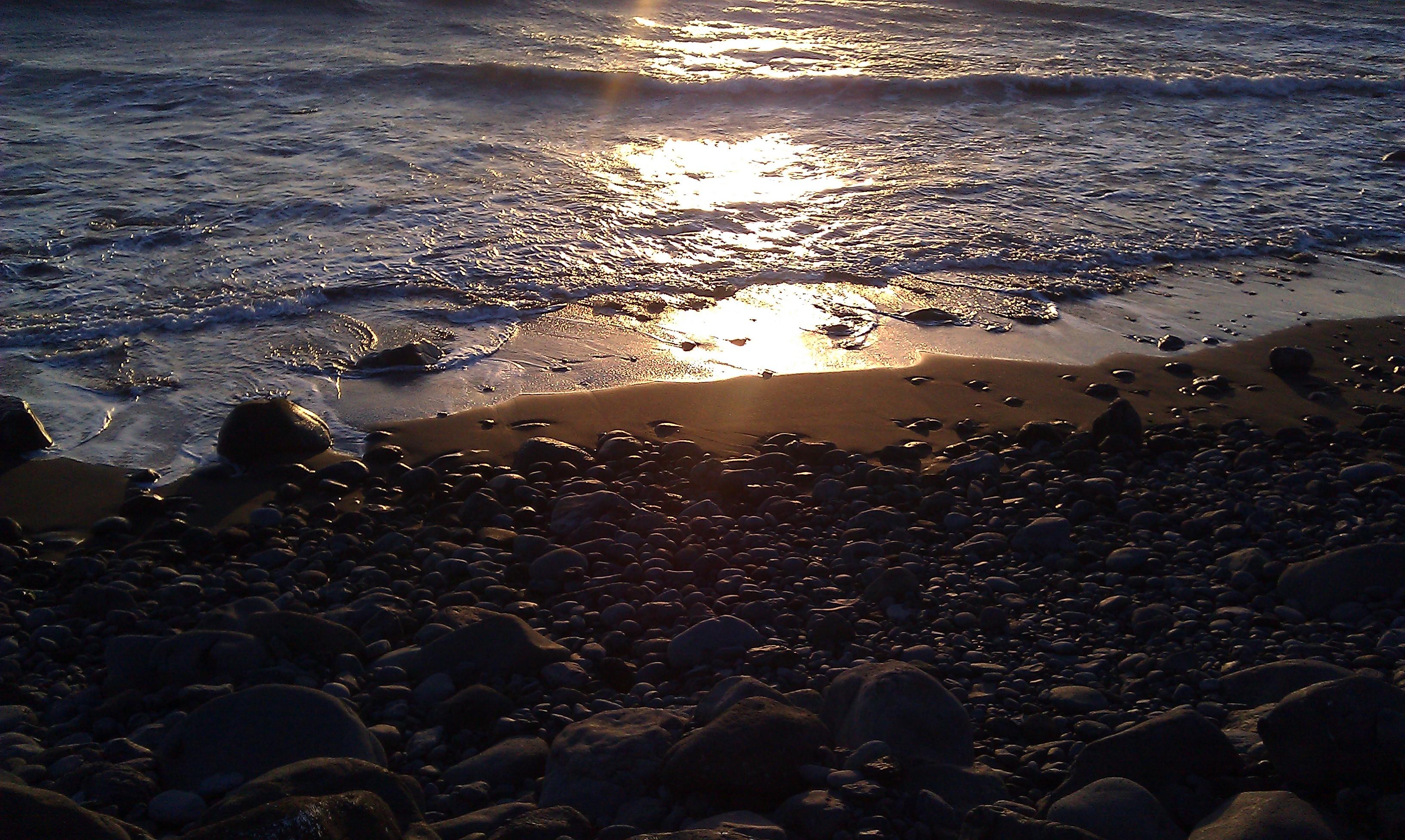 Sol i strandkant